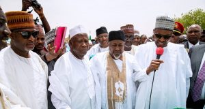 President Buhari in Jigawa commissioning projects