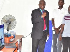 FUTA VC, Prof. Fuwape commissioning the panels