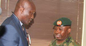 GOC 81 Div., Major-General Enobong O. Udoh during a visit to EFCC Lagos
