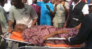 Melaye on stretcher
