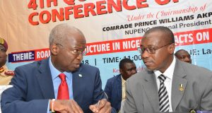 Minister of Works and Power, Babatunde Fashola and NNPC GMD Maikanti Baru