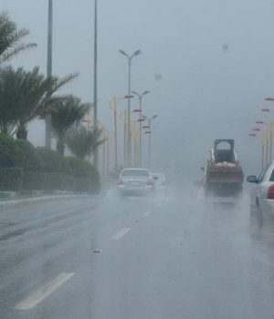 Heavy rainfall, as seen in Mahayel, Asir, starting Thursday evening and lasting until Monday, is forecast for much of the country