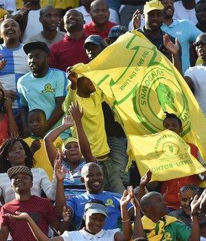 Supporters of South African champions Mamelodi Sundowns