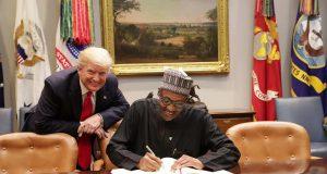 U.S President Trump and President Buhari