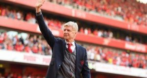 Wenger bade farewell to Arsenal supporters at The Emirate Stadium
