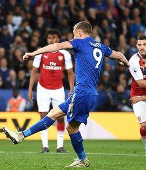 Vardy 21st goal of the season helped Leicester to their third win in 13 league games