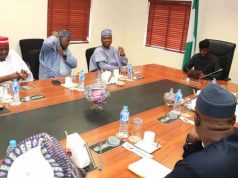 Saraki, Dogara and other leaders of nPDP in a meeting with Osinbajo