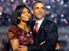 Mitchelle and Barack Obama