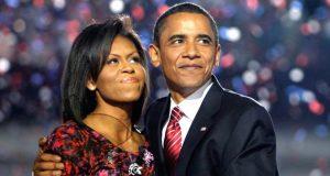 Mitchelle and Barack Obama