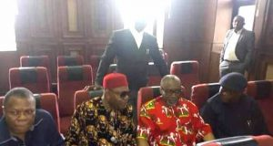 Sen. Abaribe, second right, in court