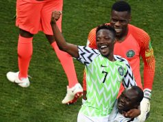 Ahmed-Musa celebrates his goals