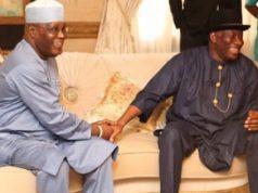Atiku with Goodluck Jonathan in Bayelsa
