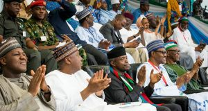 Dogara, Saraki, Osinbajo and Buhari at APC Convention