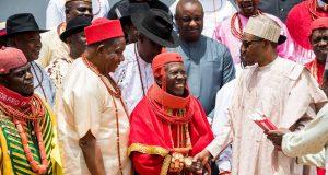Buhari with Urhobo leaders