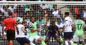 England captain, Harry Kane scored the second goal against Nigeria in the friendly