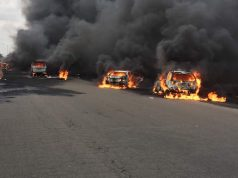 The fuel tanker fire along the Otedola bridge