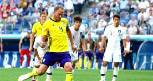 Andreas Granqvist is the first Swede to score a penalty at the World Cup since Henrik Larsson in 2002 against Nigeria