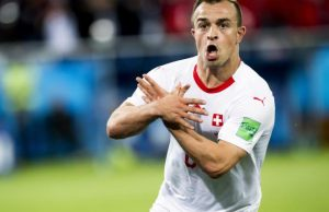 Xherdan Shaqiri's solo effort earn Switzerland victory over Serbia