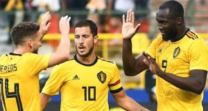 Hazard, Lukaku celebrate Belgium thrashing of Tunisia