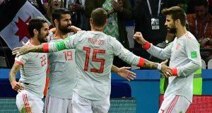 Spanish team celebrate