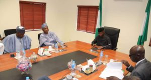 Vice President Yemi Osinbajo in a meeting with nPDP group in APC