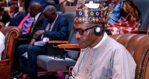 President Buhari at the AU Summit