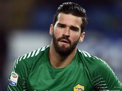 Roma goalkeeper Alisson