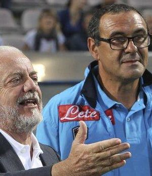Aurelio and Sarri - Sarri spent three years at Napoli with president Aurelio de Laurentiis