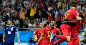 Belgium celebrate great comeback against Japan