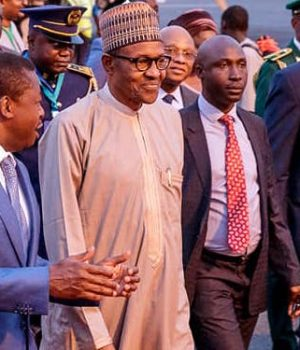 President Buhari with President of Togo Gnassingbe Fraure