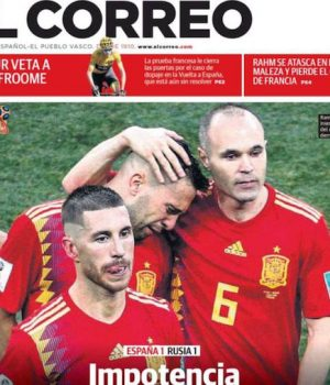Spain bowed out
