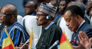 Buhari and other West African leaders in Lome