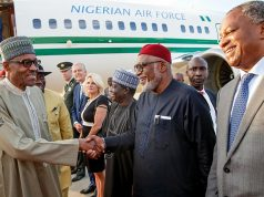 Buhari arrives Netherlands