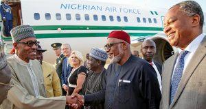 Buhari arrives Netherlands
