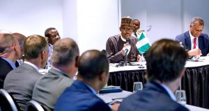 President Buhari with Dutch company CEOs