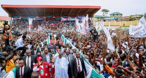 President Buhari at Ekiti Rally
