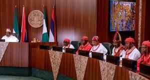 President Buhari and members of Isoko Development Union