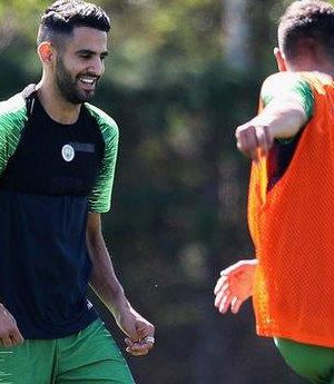 Mahrez first training with Man City