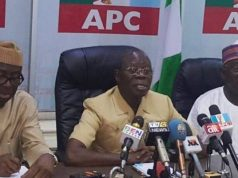 Adams Oshiomhole and other APC NEC members