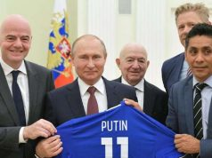 FIFA President with Putin and others