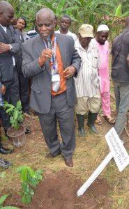 Prof. Fuwape, FUTA VC launching the Phytomedicine garden