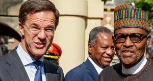 Dutch Prime Minister, Mark Rutte, with President Buhari