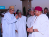 President Buhari with Gov. Ishaku and others