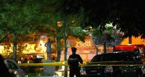Police cordon scene of Toronto shooting
