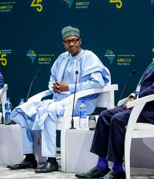 President Buhari at the 25th Anniversary celebration of the African Export and Import Bank in Abuja