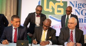 NLNG officials at the signing ceremony in London