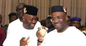 Sen. Godswill Akpabio and Gov. Emmanuel Udom