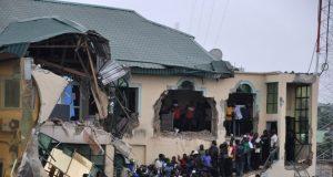 The demolished Yinka Ayefele's Music House