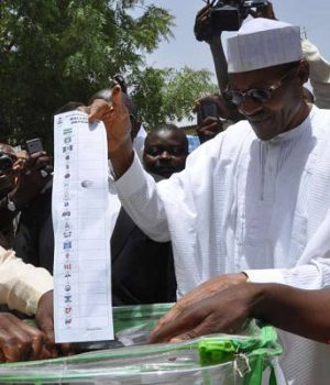 Buhari casts his-vote