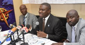 DG NIMASA, Dakuku Peterside, addressing the media